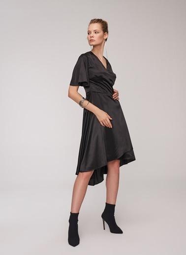 People By Fabrika Anvelop Elbise Siyah